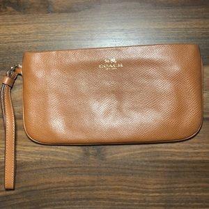 Leather Coach Wristlet/Wallet